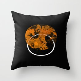 Collusion - Abstract in black, gold and white Throw Pillow
