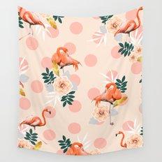 Flamingo Jazz #society6 #decor #pattern Wall Tapestry