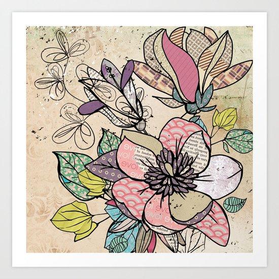 Paper Flowers #5 Art Print