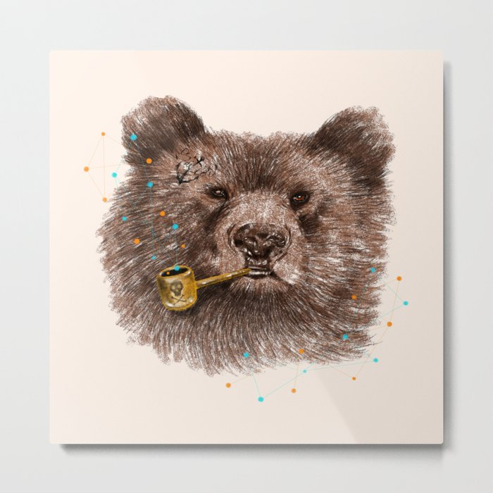 Sailor Bear II Metal Print