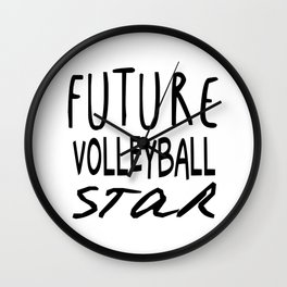 Future Volleyball Star Wall Clock