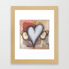 Heart Wings Framed Art Print