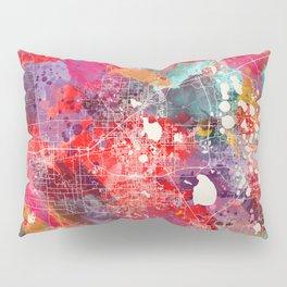 Lakeland map Florida painting 2 Pillow Sham