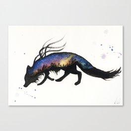 Aurora Australis Fox Canvas Print