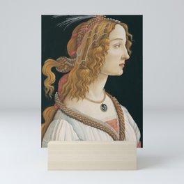 "Sandro Botticelli ""Idealized Portrait of a Lady (Portrait of Simonetta Vespucci as Nymph)"" Mini Art Print"
