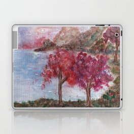 Watercolor Brilliant Night Landscape Laptop & iPad Skin