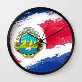 Costa Rica's Flag Design Wall Clock