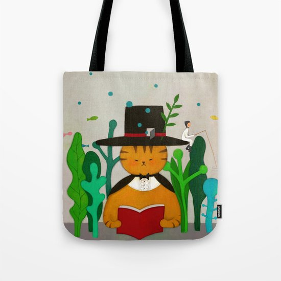 Wizard Cat Tote Bag