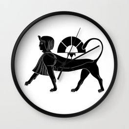 Sphinx - mythical creatures of ancient Egypt Wall Clock