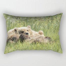 Counting Salmon - Bear Cubs, No. 3 Rectangular Pillow