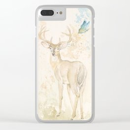 Deer and butterfly Clear iPhone Case