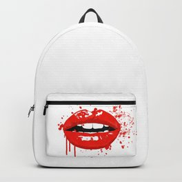 Red lips Backpack