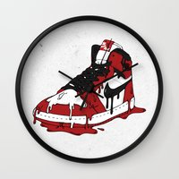 air jordan Wall Clocks featuring Air Jordan I by shoooes