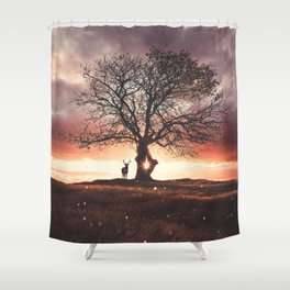 Exoplanet Shower Curtain