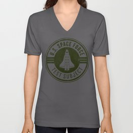 Army Green United States Space Force print USSF graphics Ltd Unisex V-Neck