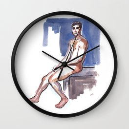 NICK, Nude Male by Frank-Joseph Wall Clock