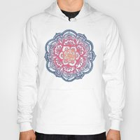 bedding Hoodies featuring Radiant Medallion Doodle by micklyn