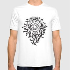 Lion White LARGE Mens Fitted Tee