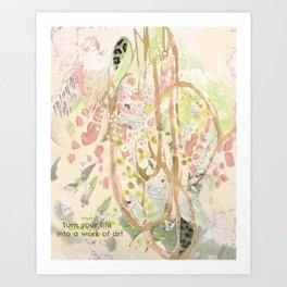 Life Into Art #2: by Deb Haugen (#HeyCreateDaily) Art Print