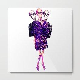 Funketon Skeleton Metal Print