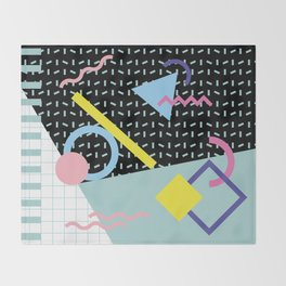 Memphis Pattern 6 - 80s - 90s - Retro Throw Blanket