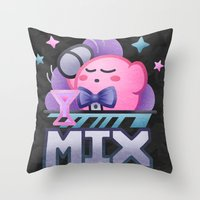 kirby Throw Pillows featuring Kirby Mix by likelikes