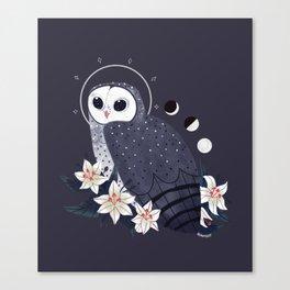 Familiar - Sooty Owl Canvas Print