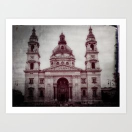 St Stephens Basilica, Budapest Art Print