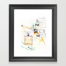the C perfume Framed Art Print