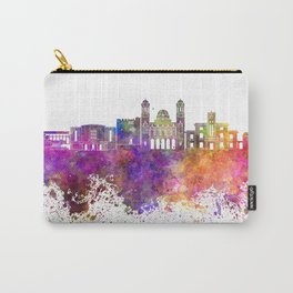 Limassol skyline in watercolor background Carry-All Pouch