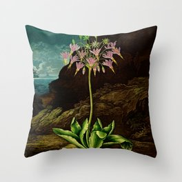 The American Cowslip Flower : New Illustration Of The Sexual System Throw Pillow