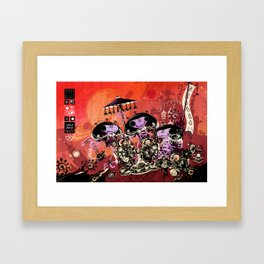 Diplomatic Party With Alien Friends Framed Art Print