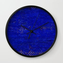 -A5- Royal Calm Blue Bohemian Moroccan Artwork. Wall Clock