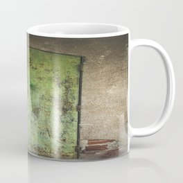 Rusty Green Door Coffee Mug