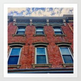 Looking Up on Main Street - Beacon NY Art Print