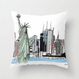 New York. Throw Pillow