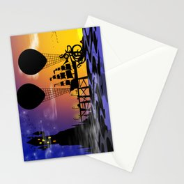 Here be monsters Stationery Cards