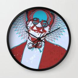 Erwin Schrödinger - ShroZ Wall Clock