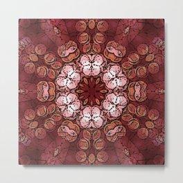 Mandala of Opposites: Warm - Cold, Soft - Hard, Light - Dark Metal Print