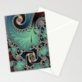 Azure - Fractal Art Stationery Cards