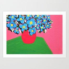 Blue Spring Flowers Art Print