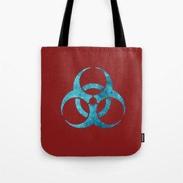 Blue Biohazard Symbol Tote Bag