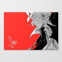 mad Canvas Prints featuring Mad by yamineftis