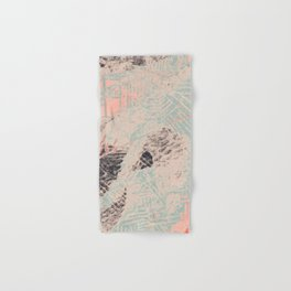 Industry: mixed media | digital | street art | abstract | blue | coral | gray | pink | pattern | Hand & Bath Towel