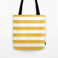 striped Tote Bags featuring Striped by TT Smith