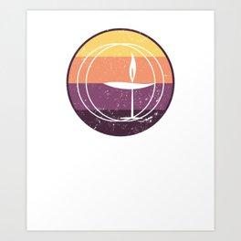 Sunset Flaming Chalice, Unitarian Universalist Gift Art Print