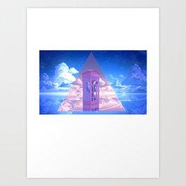 HIPSTER_BUNNY Art Print