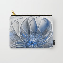 Abstract Art with Blue Carry-All Pouch
