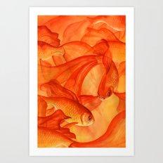 Goldrush Art Print