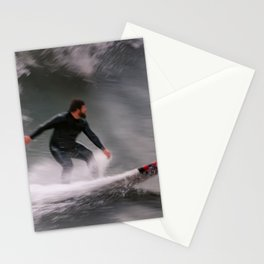 Surfer riding a wave Stationery Cards